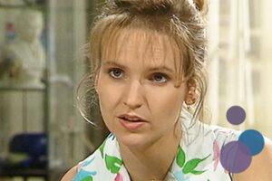 Bild von Andrea Kathrin Loewig als Iris Gundlach aus der TV-Serie Gute Zeiten, Schlechte Zeiten (GZSZ)
